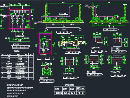 饮水安全泵房布置图
