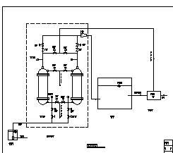 200m3/d农村供水工程净水工艺流程图