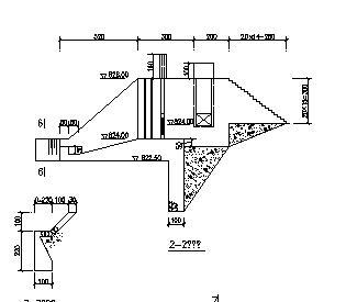 低坝引水工程溢流坝设计图纸
