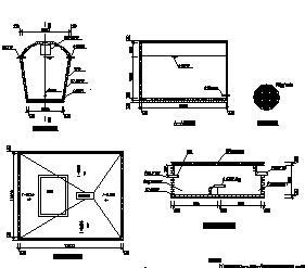 供水工程40立方水窖构造设计图纸