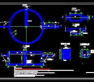200立方蓄水池典型构造设计图纸