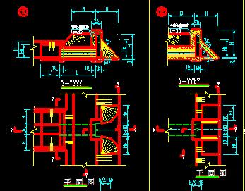 梯形渠道引水口设计图