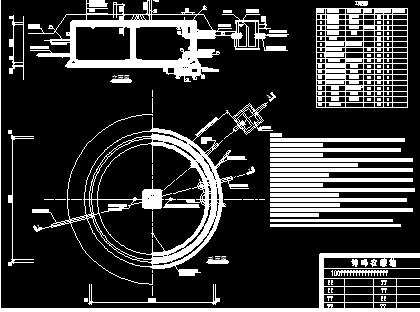 100m3钢筋混凝土蓄水池设计图纸