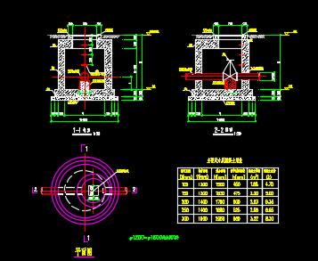 钢筋混凝土检查井设计详图