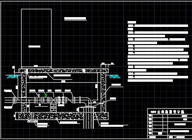 机井枢纽及闸阀井设计图纸