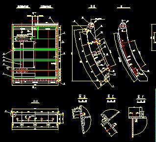 水电站冲砂闸金属结构施工图纸