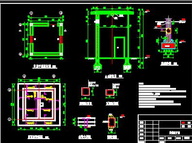机井、井房、闸阀井设计图纸