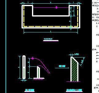 梯形及矩形薄壁堰设计图纸图片