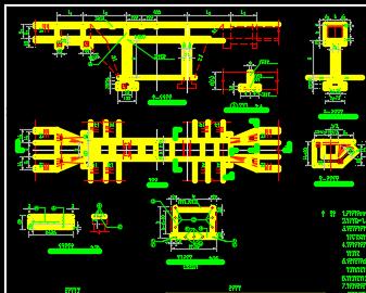 矩形渡槽构造设计图