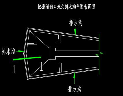 隧洞洞脸排水施工图纸