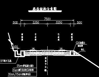 电站辅助洞室路面结构详图