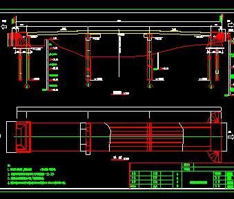 某空心板人行桥桥梁构造设计图纸
