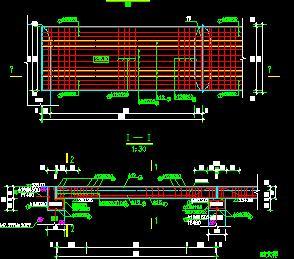 工作桥结构配筋设计图