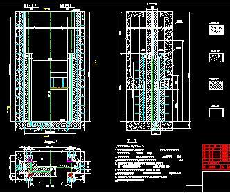 潜孔式平板钢闸门构造施工图纸