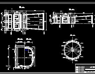 水利枢纽工程进水口设计图纸