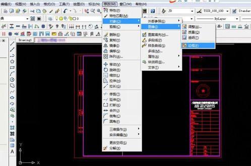 教你天正CAD在外部参照图框中插入面馆电子cad布置图片