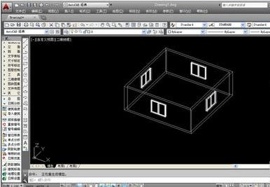 使用创意CAD搭建图纸并绘制立体图纸-天正高天乐查看模型图片