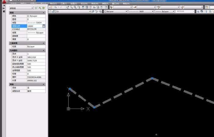 天正cad改变多段线的密度,宽度虚线cad中是什么命令a图片