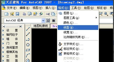 用天正cad点画线绘制地图轮廓cadjpg分辨率图片