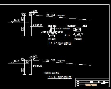 14米深基坑喷锚支护施工方案及施工图纸