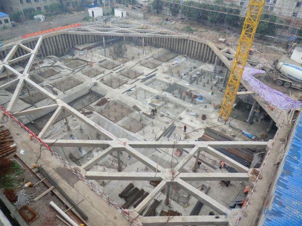 小面积办公室_高层建筑地下室基坑施工全过程图片集一 - 岩土论文