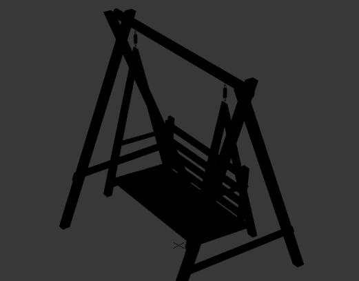 木秋千3D模型