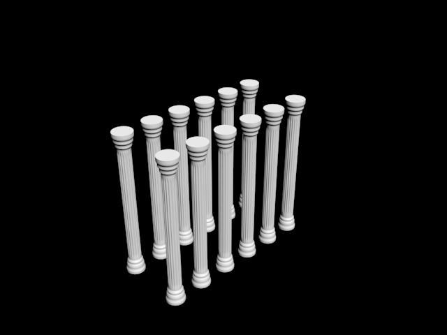 罗马立柱模型