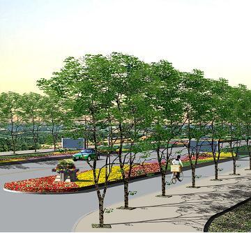 道路绿化设计3DMAX模型图纸