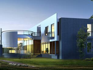 两层现代化独栋别墅3DMAX模型