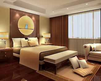 别墅卧室及卫生间装修设计3DMAX模型