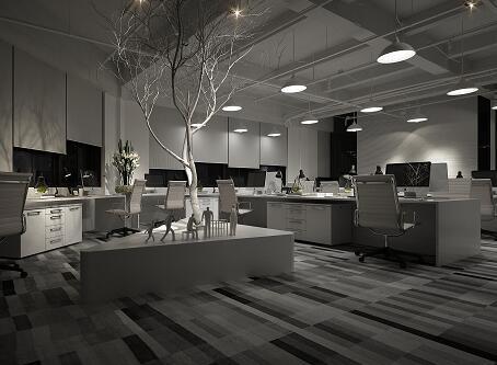 办公室室内设计3DMAX夜景模型