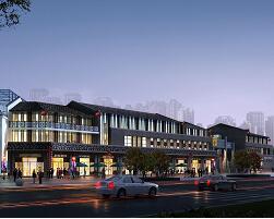 仿古商业街景观设计3DMAX模型