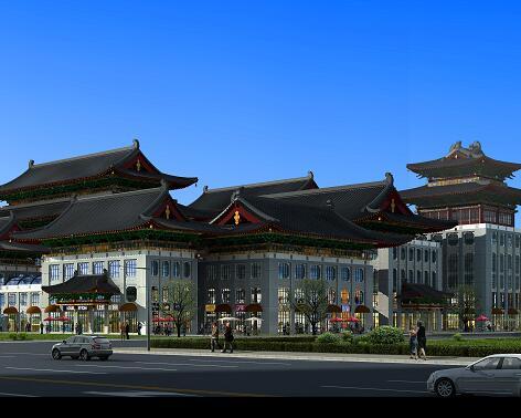 仿古商业楼古建筑设计3DMAX模型