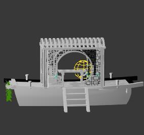 木制船型亭子3Dmax模型