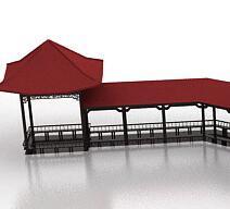 中式园林游廊设计3DMAX模型