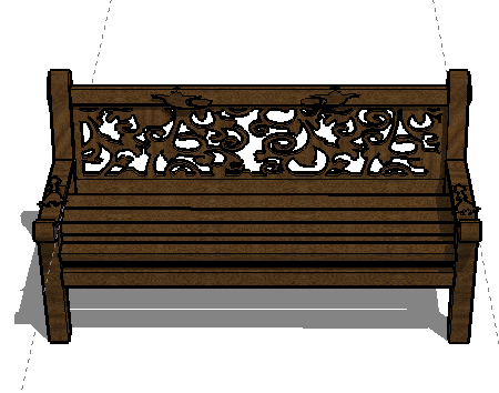 园椅SketchUp模型