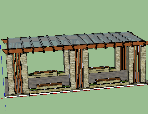SketchUp 花架模型