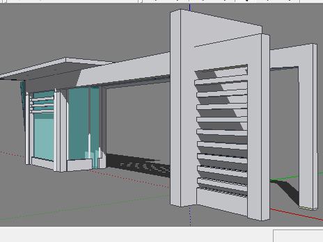 现代风格入口大门SketchUp模型