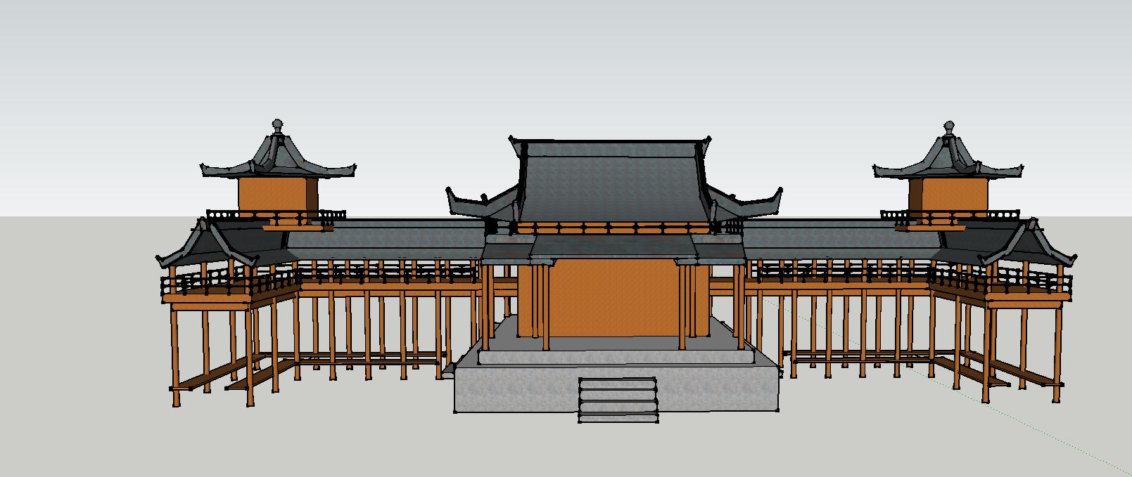 景观亭SketchUp模型
