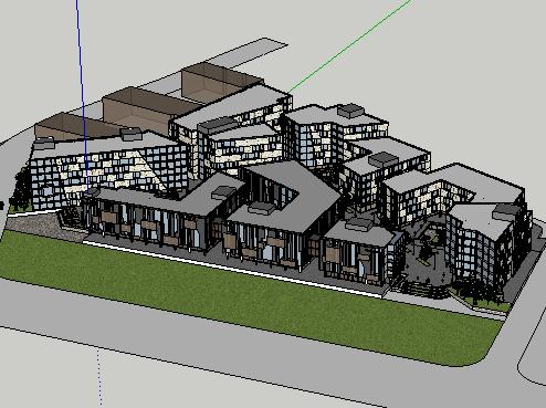 产业园SketchUp模型