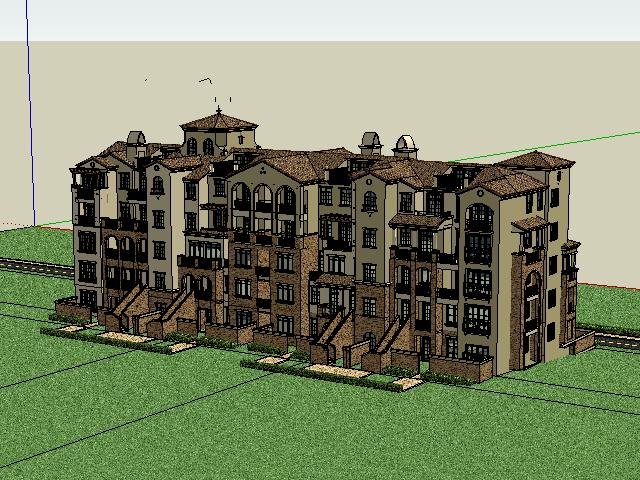 五层别墅设计SketchUp模型