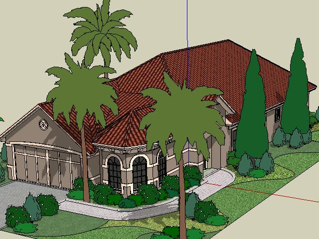 别墅景观设计SketchUp模型