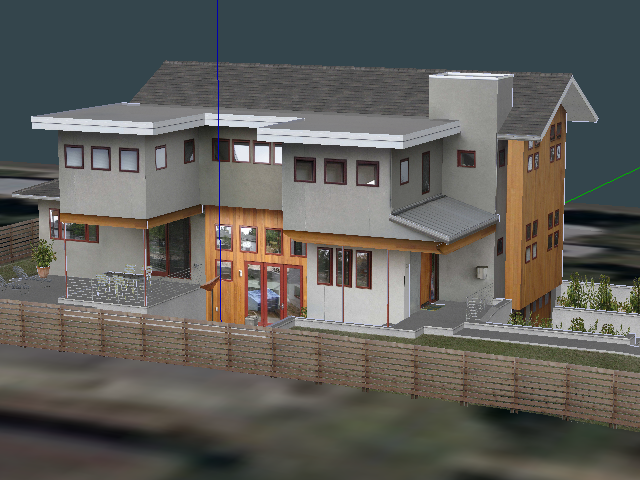 二层带地下室别墅设计SketchUp模型