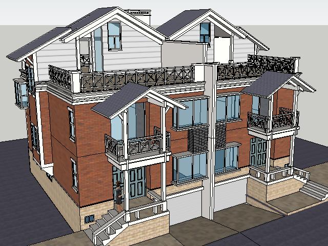 二层别墅设计SketchUp模型