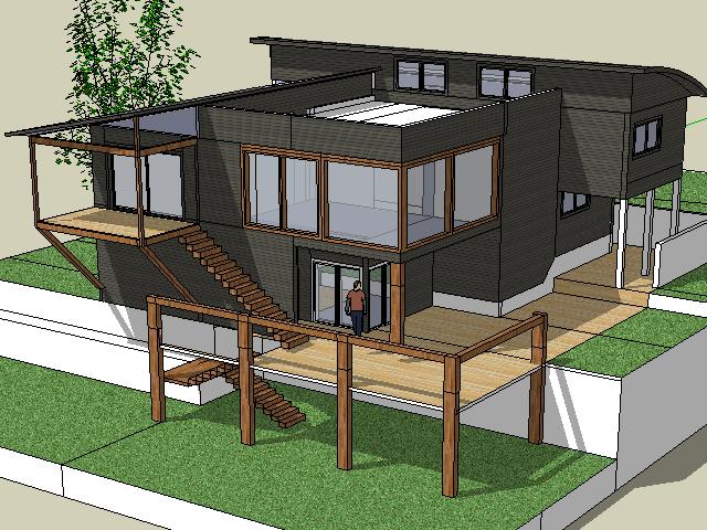 二层现代别墅设计SketchUp模型