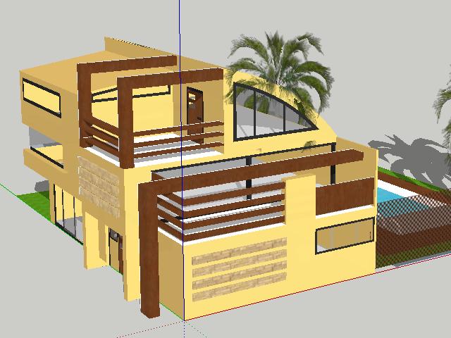 现代简约别墅设计SketchUp模型