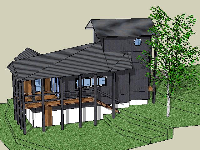 小型别墅设计SketchUp模型