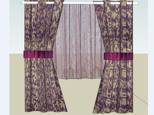 室内装修窗帘设计SketchUp模型