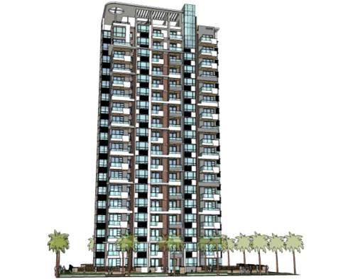 现代高层住宅楼设计SketchUp模型