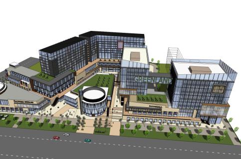 现代风格商业楼设计SketchUp模型